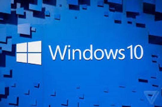 Windows 10 32+ 64 bita na dvd estra jeftino, čitaj