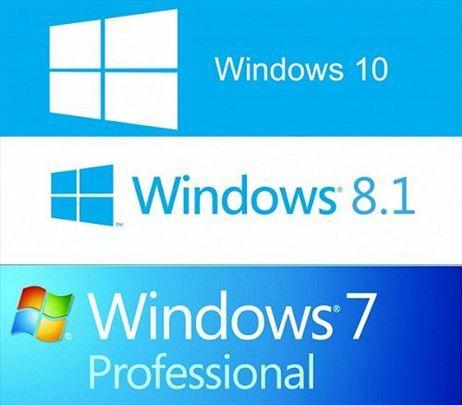 Windows 7 8 10 3u1 70verzija+ključ na USB džaba ci