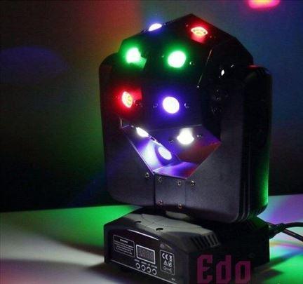 Led moving head light LED mini roto glava 16 dioda