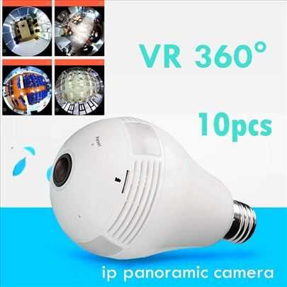 Panorama kamera 360 step. sijalica IP WiFi kamera