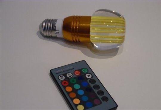RGB LED sijalice 16 boja - 3W