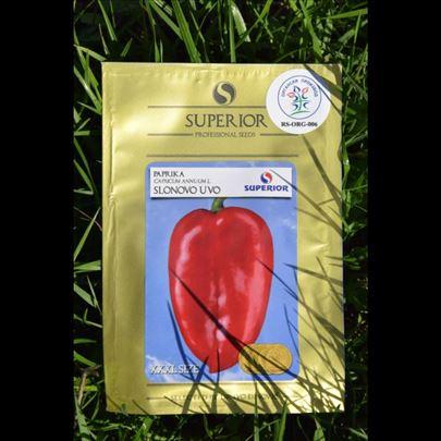 Organic seme paprika slonovo nvo
