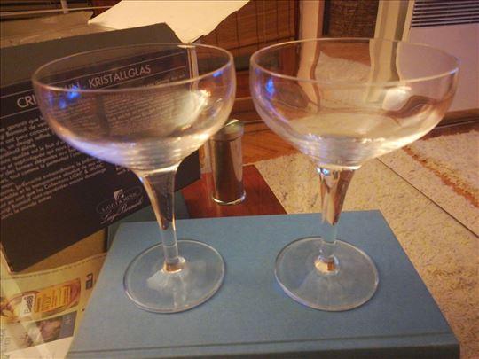 Čaše za šampanjac od venecijanskog kristal stakla