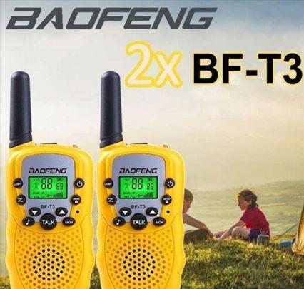 Baofeng T3 Toki voki 2 komada ZUTI