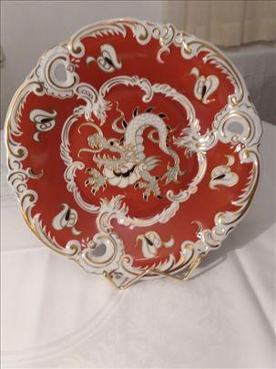 Ukrasni Wallendorf tanjir od porcelana sa pozlatom