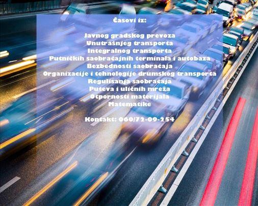 Časovi iz matematike i grupe predmeta saobraćaja