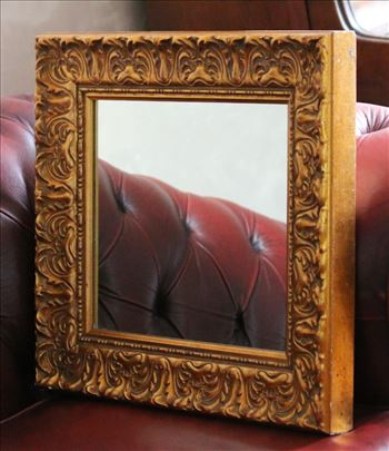Ogledalo drveno u pozlati