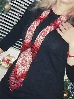 Ogrlica dugačka etno stil ručni rad