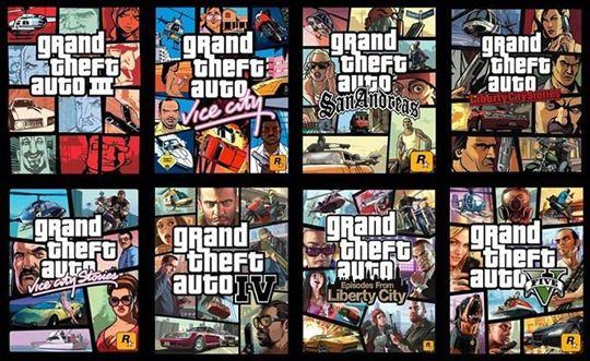 PC Igra Grand Theft Auto Kolekcija od 1997-2015