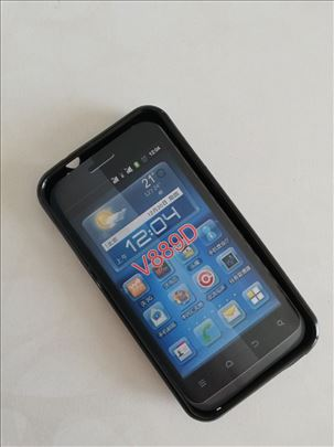 ZTE 889D Transparent Black silikonska futrola