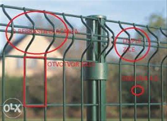 Ogradni paneli,panelna ograda,farmer zica,stubovi