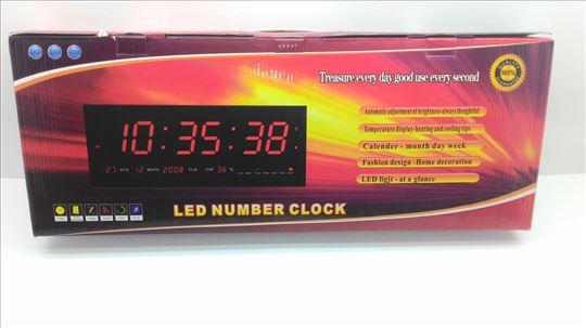 Veliki digitalni LED sat - ultra tanak digitalni L