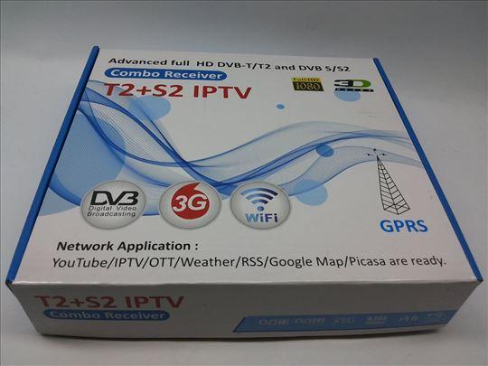 Digitalni HD satelitski DVB-T2 DVB-S2 combo TV