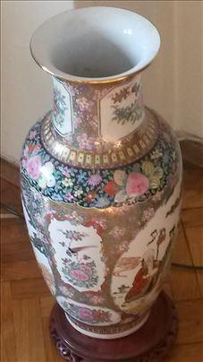 Kineska starinska podna vaza-porcelan