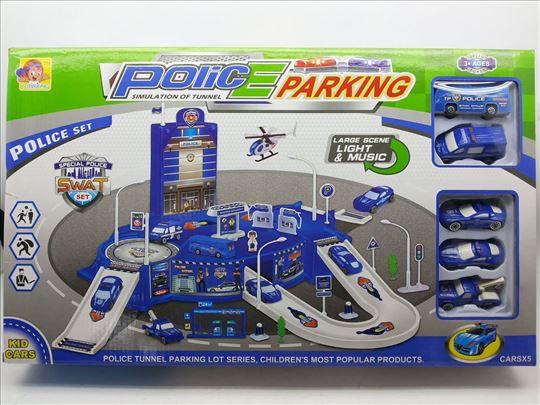 Policijski parking/garaža set, nov, Police parking
