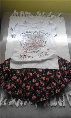 Kompletic za devojcice suknja sarena