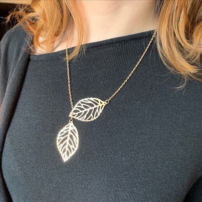 Ženska ogrlica lišće