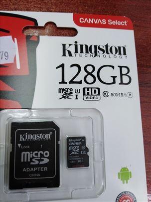 Micro SD i citac za Micro SD 128GB Kingston akcija
