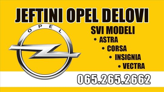 Opel Zafira - kompletan auto u delovima