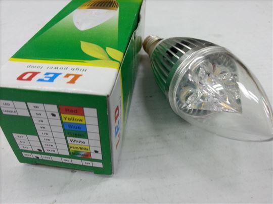 LED sijalica E 14 , 5W toplo belo