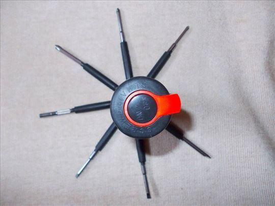 Odvijac 8 u 1 sa LED lampom-odličan