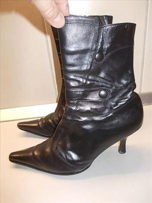 Čizme broj 40, kožne iz Nemačke, očuvane