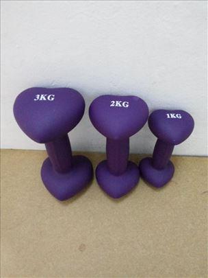Tegovi Ručni/Bučice za devojke 1kg/2kg/3kgTegovi