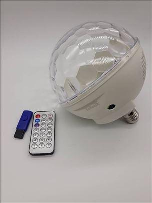 Disko kugla Muzička BT/USB rotaciona E27 sijalično