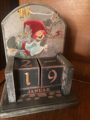 "Trajni kalendar, ""Crvenkapa"", unikat"