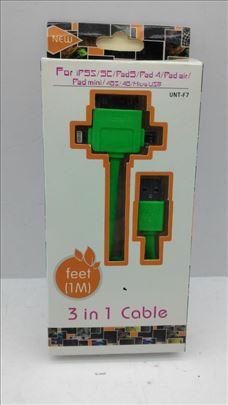 3u1 USB iPhone kabl
