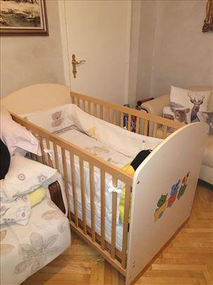 Dečji drveni krevet