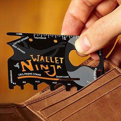 Ninja wallet 18 u 1-alat kartica