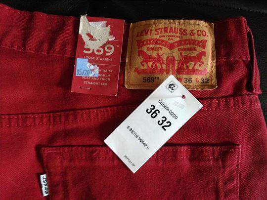 Levis 569 (doneto iz USA) 36X32 red