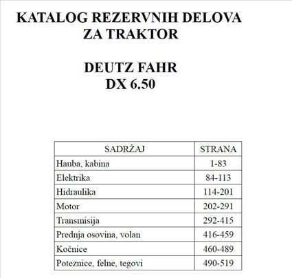 Deutz Fahr 6.50 - Katalog delova