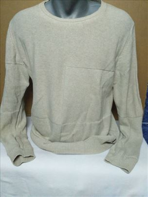 Krem džemper dug rukav