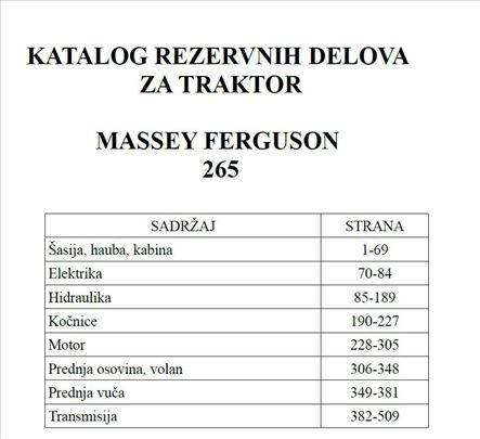 Massey Ferguson 265 - Katalog delova
