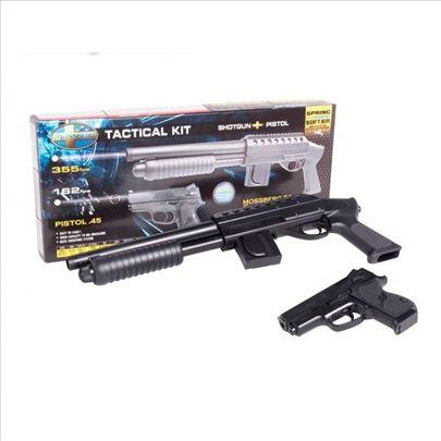Komplet spring , mosberg puška + pištolj