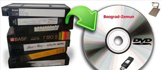 Presnimavanje sa VHS,VHS-C kaseta Na DVD Beograd