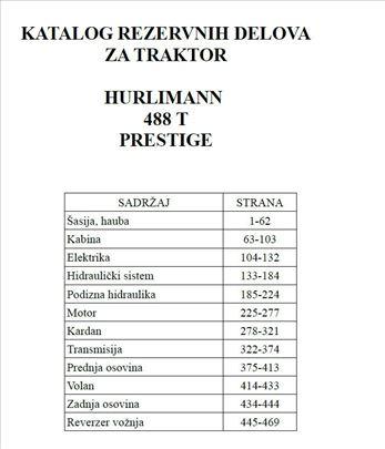 Hurlimann 488 T Prestige - Katalog  delova