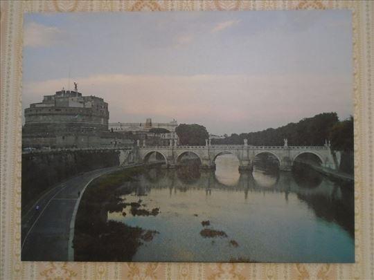 Уметничка фотографија на платну – Сутон у Риму