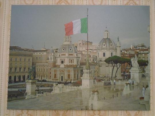 фотографија на платну – Летње кишно поподне у Риму