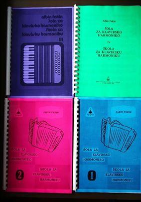 Albin Fakin skola klavirne harmonike 1-4