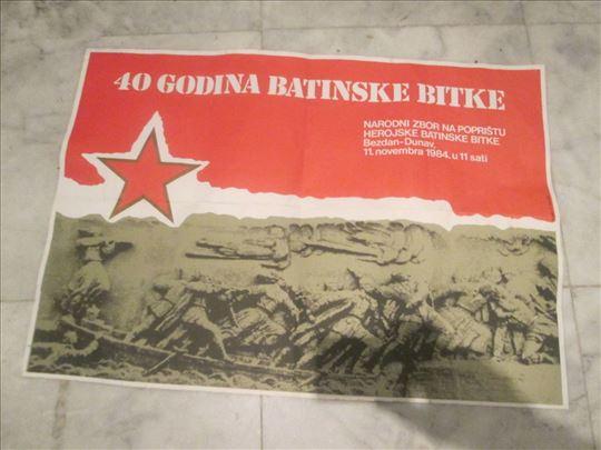 Plakat iz 1984: 40 godina Batinske bitke