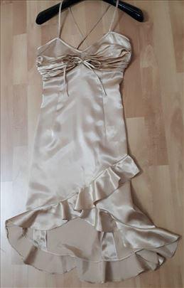 Satenska haljina kao nova S vel.