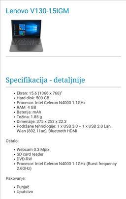 Laptop Lenovo V130-15IGM nov