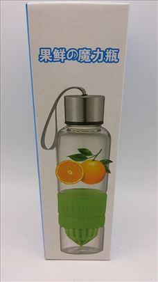 Cediljka flaša za limun/pomorandžu, novo