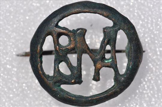 Rim fibula sa inicijalima RNA, bronza