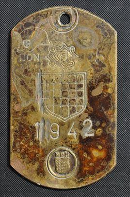 Ustaska medalja Don 1942