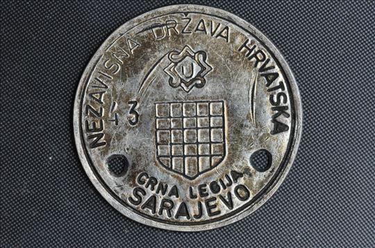 Znacka ustaske Crne legije 1943