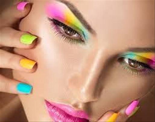 Šminkanje, izlivanje noktiju